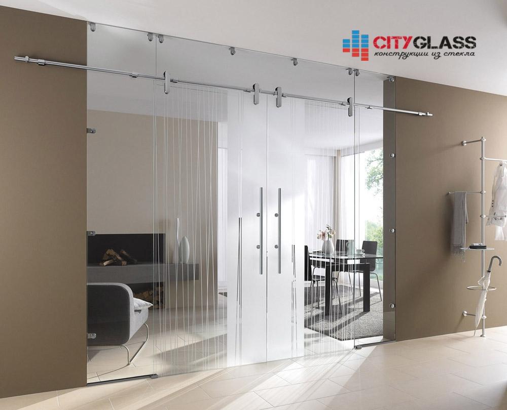 Галерея стеклянные двери на заказ - d21