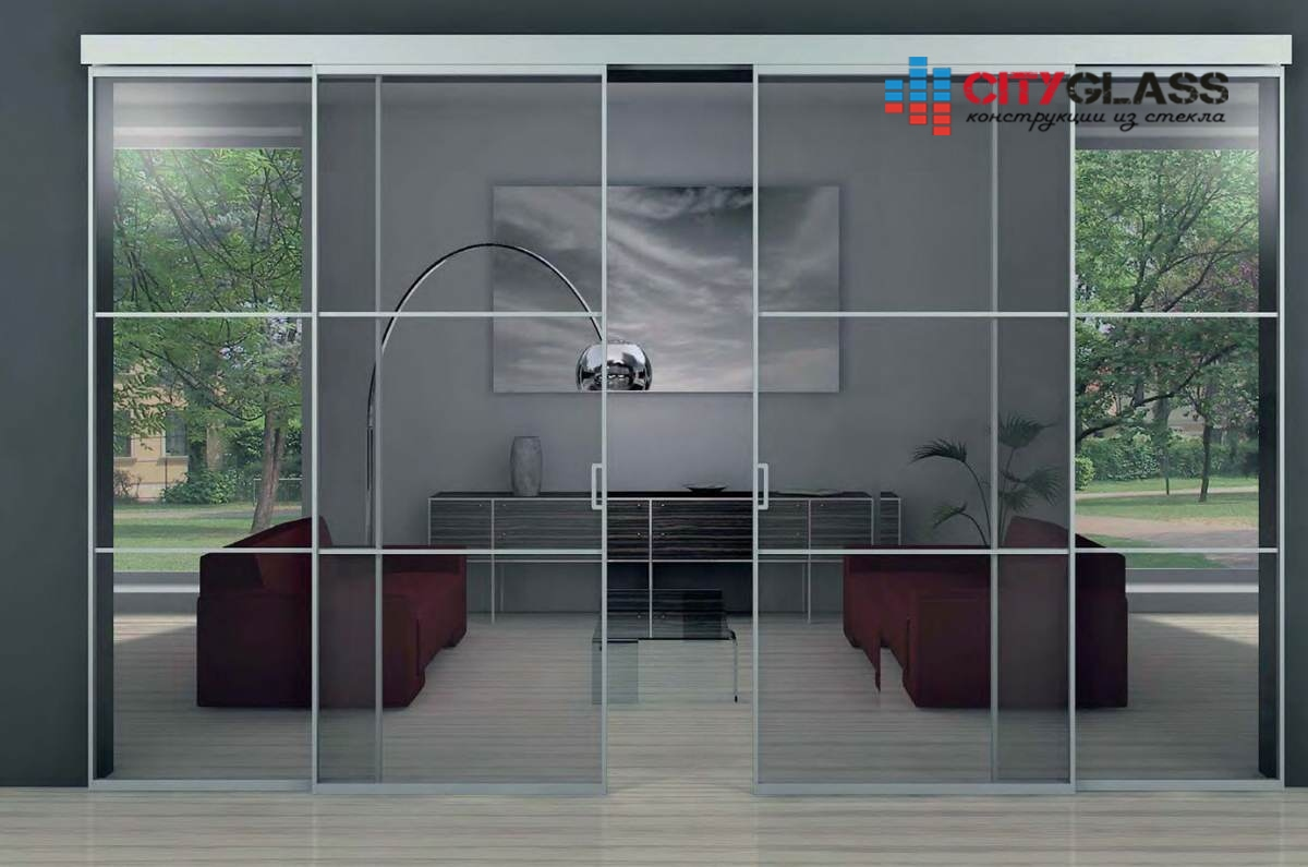 Галерея стеклянные двери на заказ