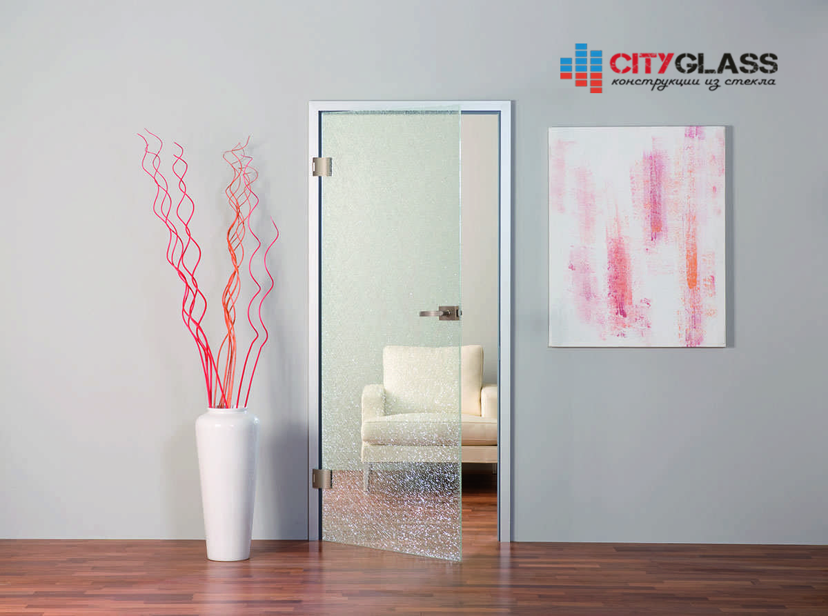 Галерея стеклянные двери на заказ - d24