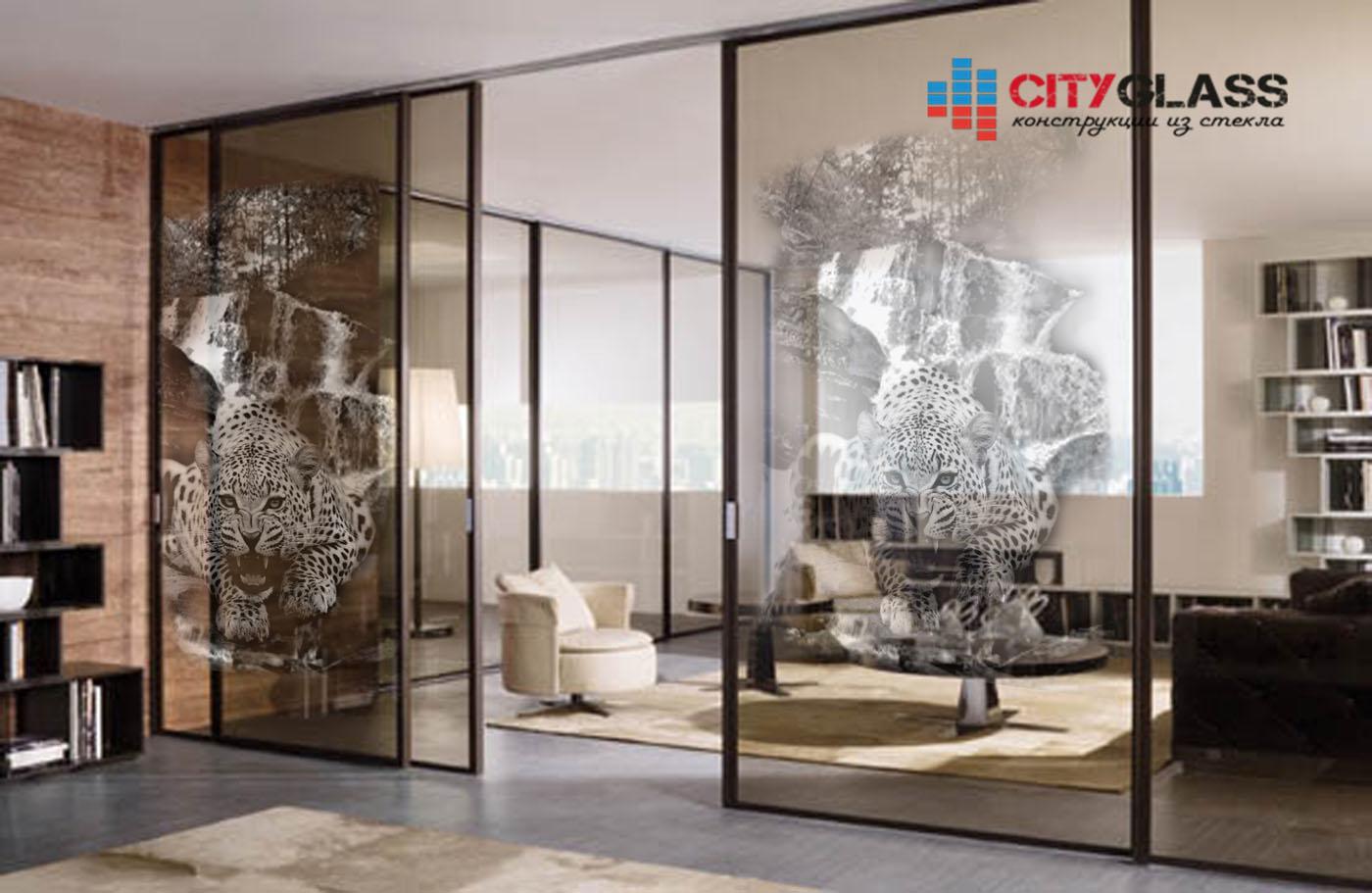 Галерея стеклянные двери на заказ - d26 2