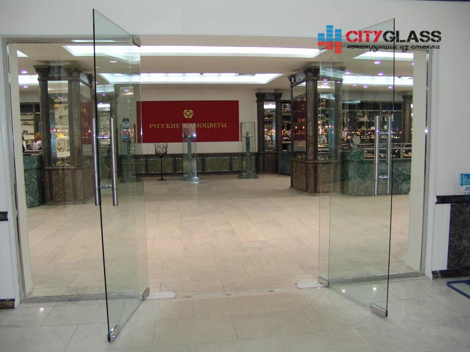 Галерея стеклянные двери на заказ - d27