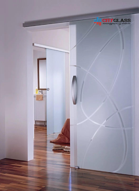 Галерея стеклянные двери на заказ - d34