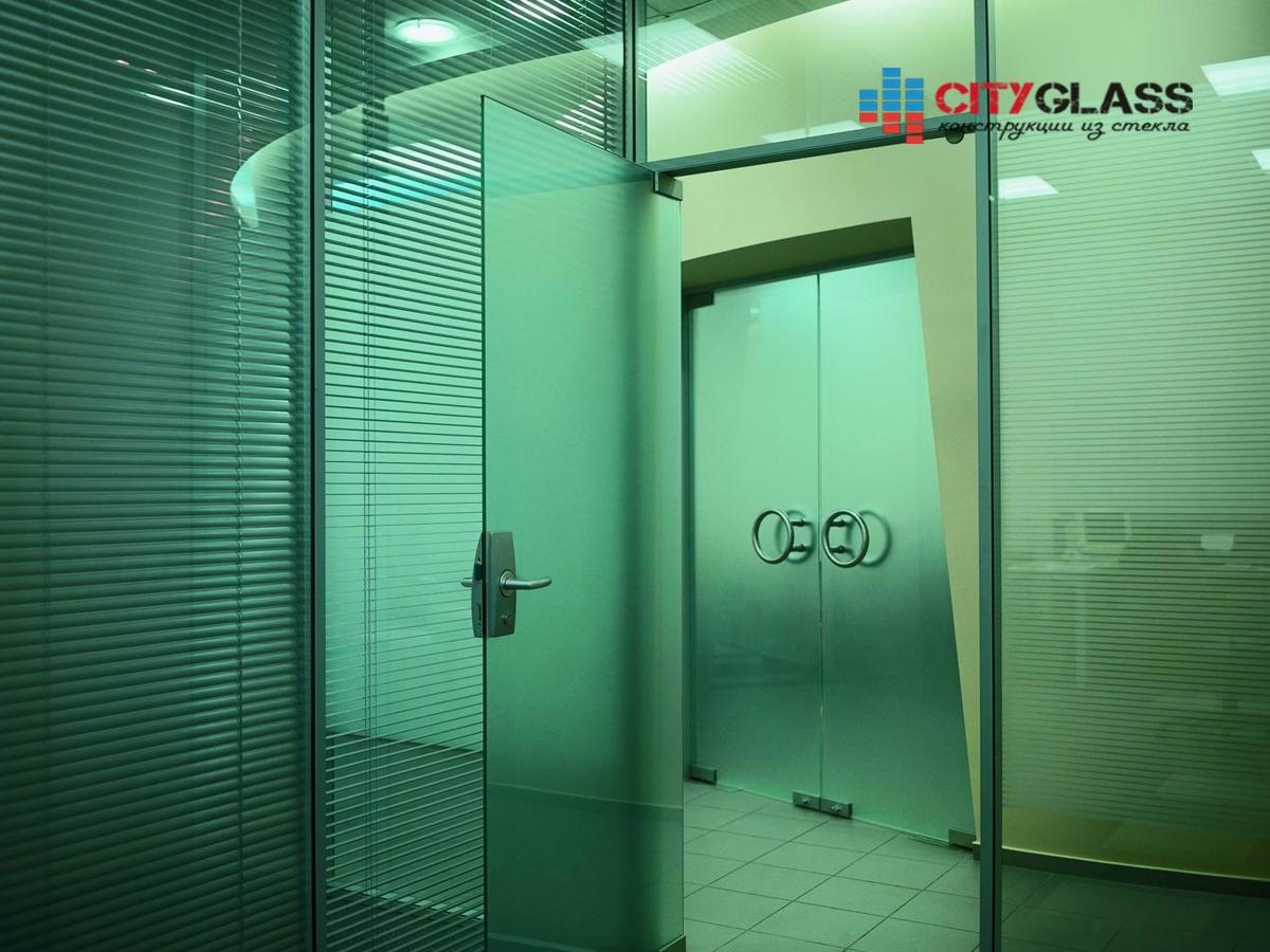 Галерея стеклянные двери на заказ - d35