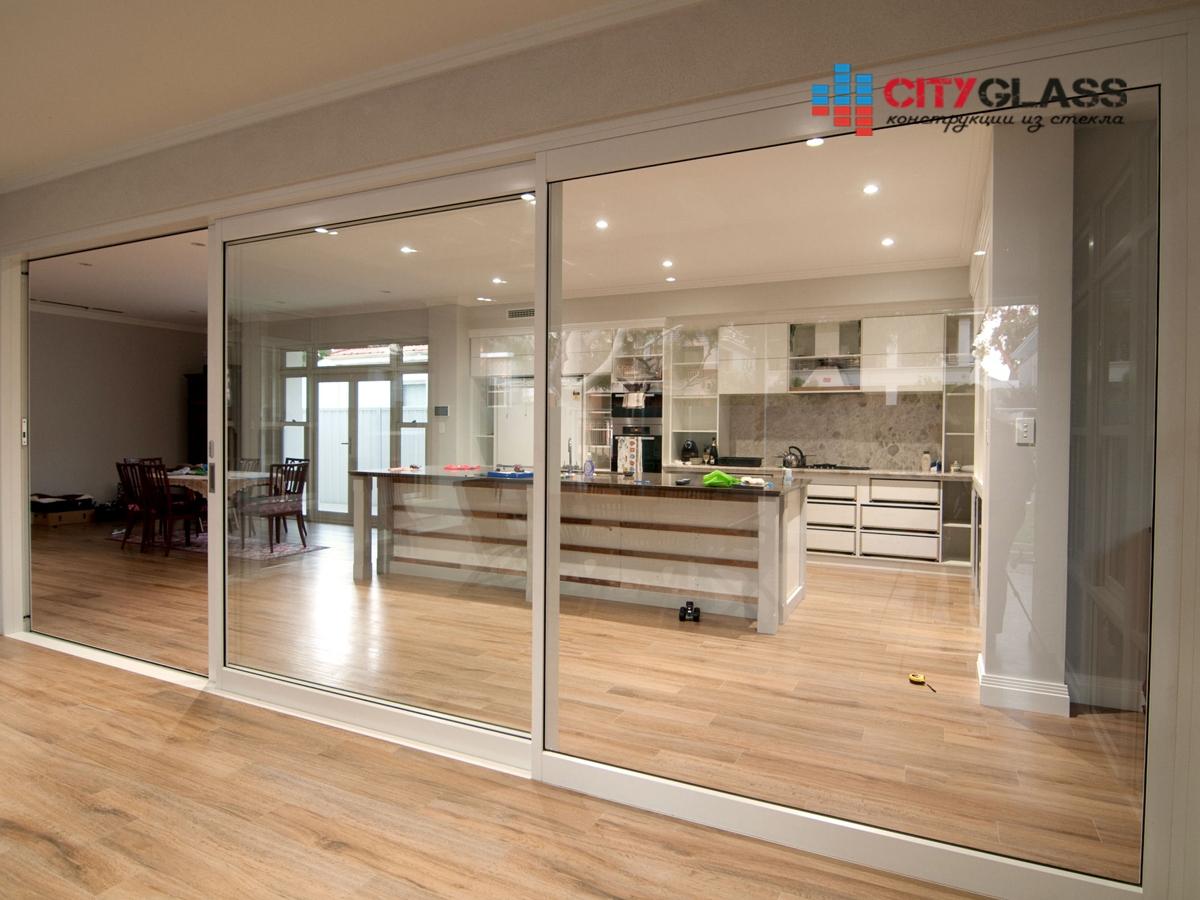 Галерея стеклянные двери на заказ - d39
