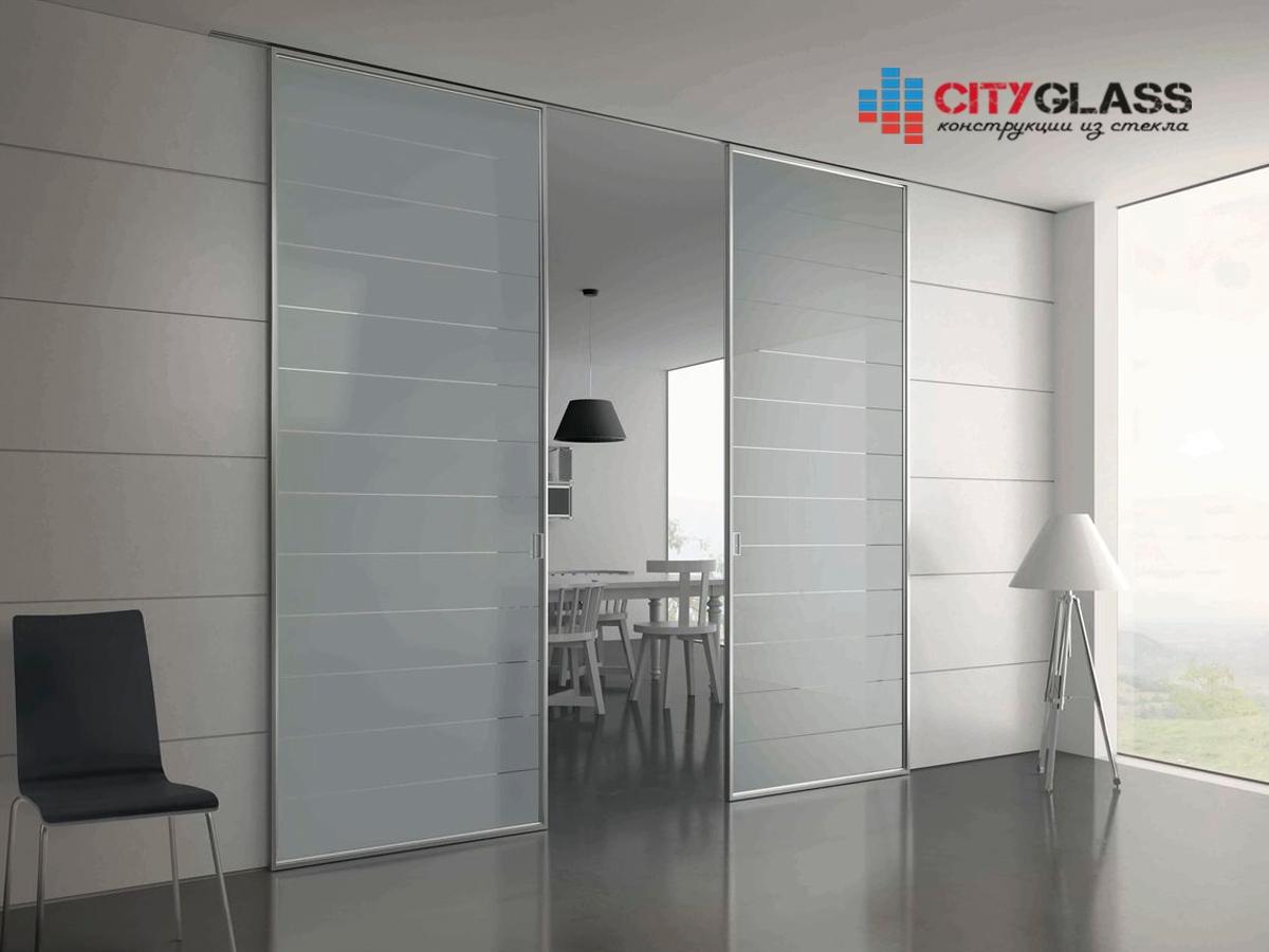 Галерея стеклянные двери на заказ - d40