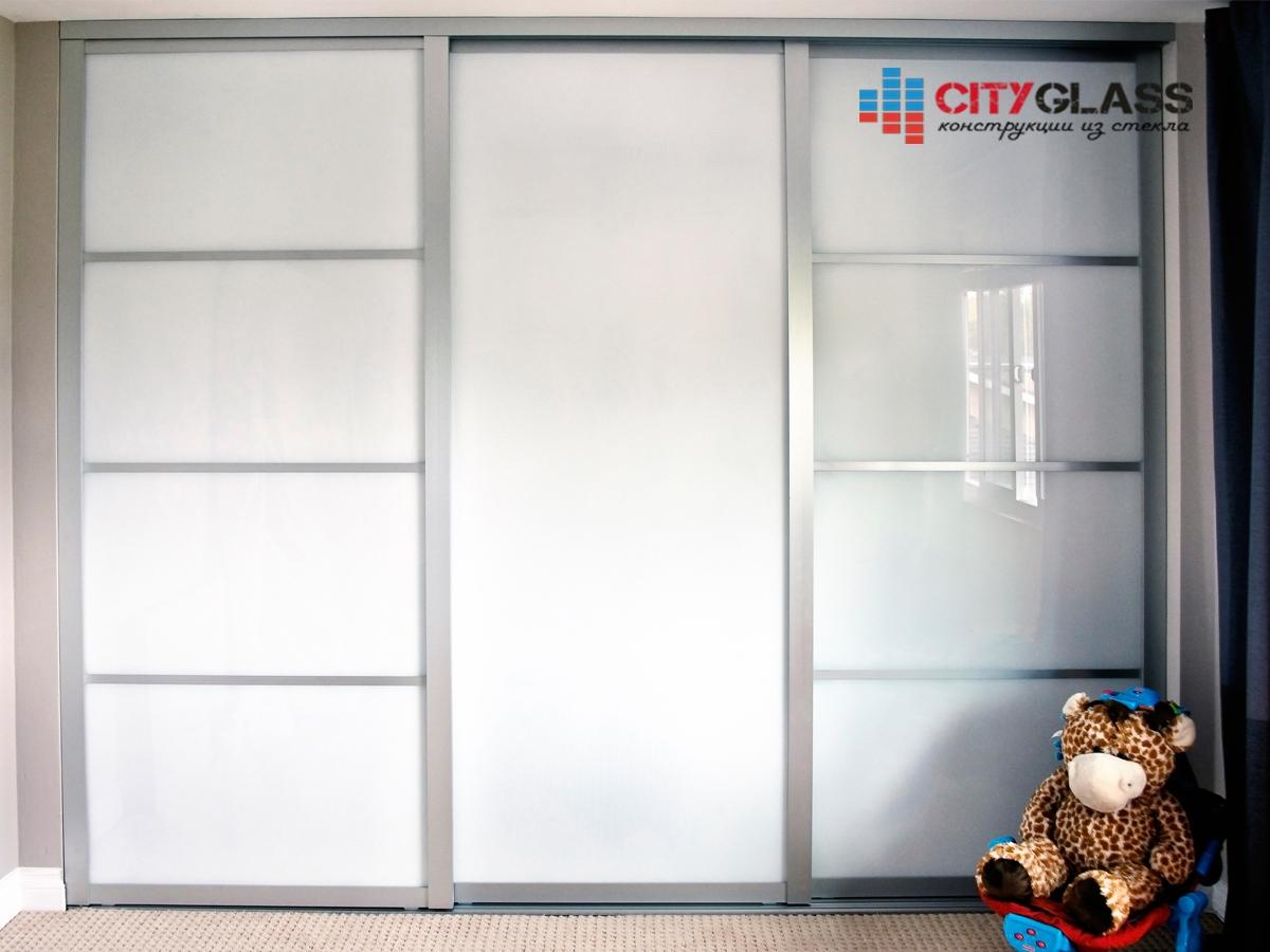Галерея стеклянные двери на заказ - d41