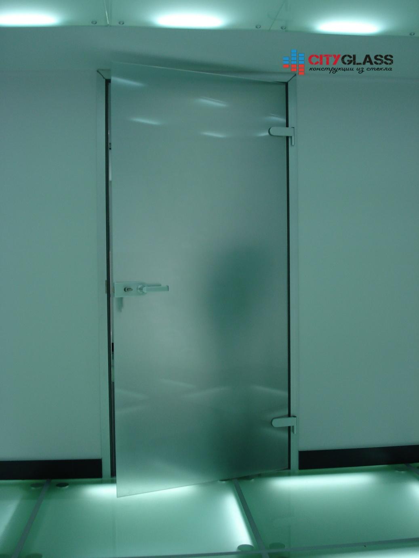 Галерея стеклянные двери на заказ - d46