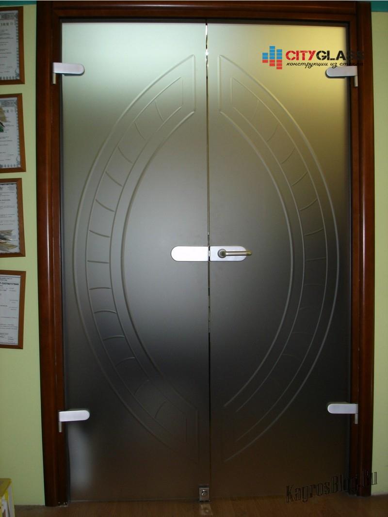 Галерея стеклянные двери на заказ - d47