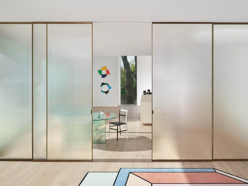 стеклянные раздвижные двери на заказ