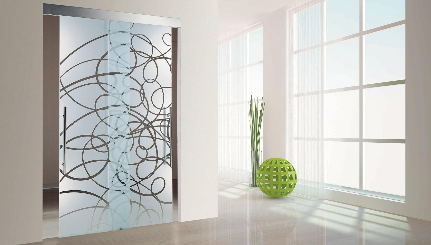 декоративные перегородки со стеклом